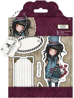 """Santoro/Docrafts Gorjuss """"The Hatter"""" Rubber Stamp Set *PRE-ORDER*. THIS IS A PRE-ORDER. Estimated ship date is Mid-Late April. Shipping will be charged when the items arrive via paypal (you can still be billed without an account and pay with a credit/debit card). 9Stamps included in the set"""