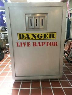 Raptor cage from Jurassic Park the movie