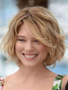 Love Hairstyles for short curly hair? wanna give your hair a new look? Hairstyles for short curly hair is a good choice for you. this Popular short wavy hairstyles & short hairstyles for wavy hair.Need inspiAration for your wavy . Short Wavy Hairstyles For Women, Layered Bob Hairstyles, Short Hair Cuts, Hairstyles 2016, Curly Haircuts, Trendy Hairstyles, Wedding Hairstyles, Blonde Haircuts, Chin Length Haircuts