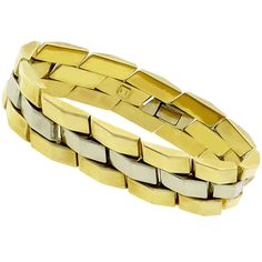 1940s 14k Yellow & White Gold Bracelet
