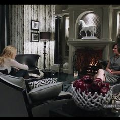 Regina aka the Evil Queen's office on Once Upon A Time. I absolutely love everything about it especially the tree wallpaper!!! :)