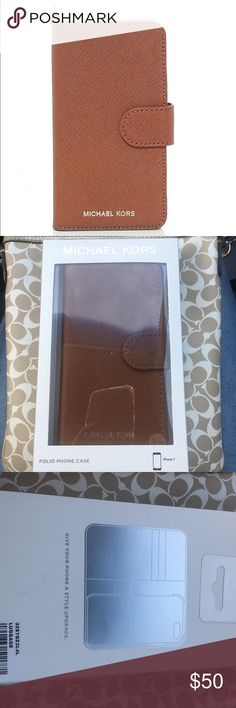 Micheal Kors Folio iPhone 7 Case Authentic Micheal Kors. Brand New and never used. iPhone 7. Michael Kors Accessories Phone Cases