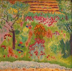 Prairie en fleurs. / Meadow in bloom. / By Pierre Bonnard.