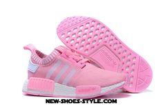 Excellent 2017 Adidas Originals NMD Runner Primeknit Women Running Shoes pink white