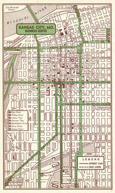 Kansas City Map Art Print, Kansas City MO Art Poster, Kansas City ...