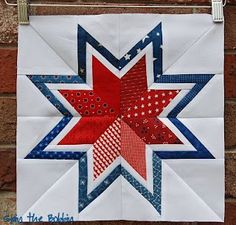 Paper pieced bordered star tutorial with link to templates