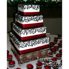 black and red wedding cake   Wedding, Cake, Red, Black - Project Wedding