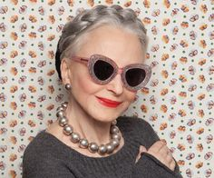 """I can only wish to be so stylish. """"Karen Walker Does Eyewear for the Elderly With Advanced Style"""" Karen Walker Sunglasses, Advanced Style, Glamour, Aged To Perfection, Ageless Beauty, Fashion Moda, Aging Gracefully, Mode Style, Style Blog"""