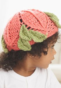 Caron International | Free Project | Leaf it to Me Baby Hat