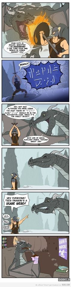 I feel so bad for the poor Dragon bro ;~; Nothing wrong with being a Nerd at all