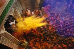 Indian Holi festival. (Abir powder)