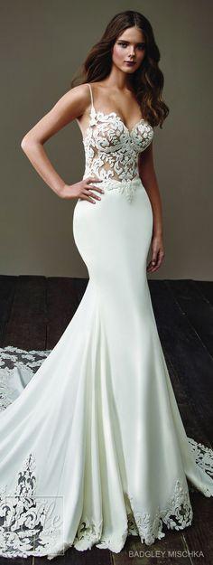 Wedding Dress by Badgley Mischka Bride Collection 2018 #weddingdress