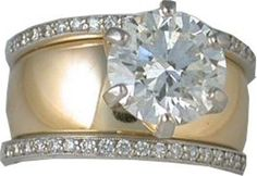 Wide band womens wedding rings