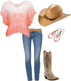 """""""Coral Ombre"""" by ding1 on Polyvore"""