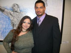 WWE Superstar Roman Reigns (Joe Anoa'i) and his cousin Vale Anoa'i. Vale is an actress and is the youngest daughter of WWE Hall of Fame legend Afa Anoa'i Sr. Vale is exactly 23 days older than Joe Roman Reigns Family, First Spear, Roman Regins, Wwe Superstar Roman Reigns, Wwe Couples, The Shield Wwe, Wwe World, Royal Rumble, Professional Wrestling