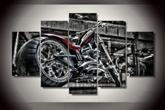5 panel HD printed painting harley bike canvas painting home decor wall art picture for living room Poster Pictures, Wall Art Pictures, Canvas Pictures, Canvas Wall Art, Wall Art Prints, Poster Prints, Music Canvas, Canvas Paintings, Skull Wall Art
