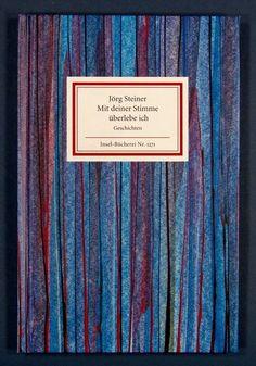 Buch: Mit deiner Stimme überlebe ich. Geschichten. Hrsg. u. mit einem Nachwort von Rainer Weiss. 1. Aufl. - Bezugspapier in Spachteltechnik von Gisela Reschke