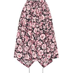 Kenzo Floral-Printed Cloqué Skirt ($600) ❤ liked on Polyvore featuring skirts, multicoloured, multicolor skirt, pink skirt, multi colored skirt, multi color skirt and kenzo