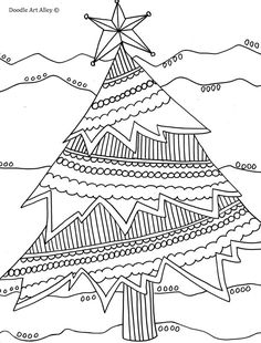 Coloring Page - Christmas Tree
