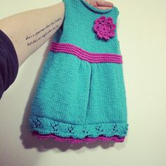 Ravelry: Project Gallery for Sedona Baby Dress pattern by Erin Harper