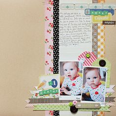 Gorgeous layout by Becky June (www.onescrappinmama.blogspot.com) using Pretty Party