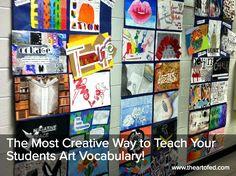 Most Creative Way to Teach Your Students Art Vocabulary The Art of Ed - The Most Creative Way to Teach Your Students Art Vocabulary!The Art of Ed - The Most Creative Way to Teach Your Students Art Vocabulary! Art Education Lessons, Art Lessons, Art Classroom, Classroom Resources, Classroom Ideas, 7th Grade Art, High School Art Projects, Mediums Of Art, Art Curriculum