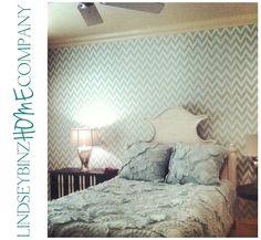 Chevron Ikat Wallpaper, Mint, Anthropologie Bedding, Mercury Lamps
