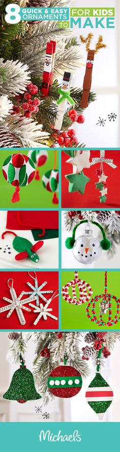 Make this holiday memorable by crafting DIY ornaments with your kids. These projects are perfect memories for the tree or gift ideas for family. For more DIY ornament ideas and all of the supplies you need to craft them, visit Michaels.com