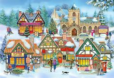 The House Of Puzzles - 250 BIG PIECE JIGSAW PUZZLE - Village Life Big Pieces in Toys & Games, Jigsaws & Puzzles, Jigsaws | eBay