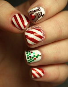 Xmas nails! #christmasnails #design #naildesign