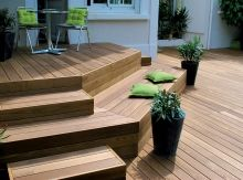 Wetterfest! Terrassen und mehr aus Holz! Timber Stair, Wood Stairs, Outside Stairs, Outside Seating, Landscaping A Slope, Outdoor Pots, Garden Landscape Design, Winter Garden, Backyard Patio