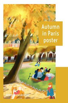 autumn decor, wall art, home decor, Paris inspire decor, home decor Parisian apartment Bicycle Decor, Bicycle Art, Paris Gifts, Paris Poster, Flat Interior, Hotel Decor, Tour Eiffel, Travel Posters, Digital Illustration