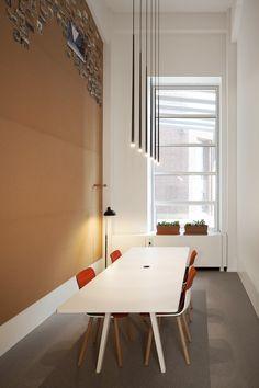 Meeting room met zachtboard