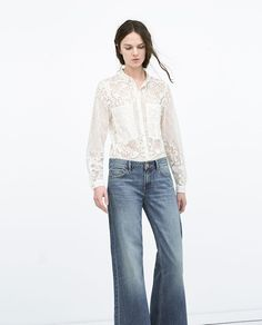 Zara lace shirt spring 2015