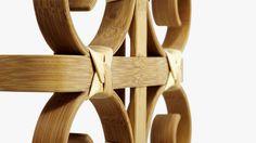 Banco de Bambu Doblado, Muebles de Materiales Naturales y Sostenibles2
