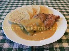 Králík nadivoko Czech Recipes, Stew, Ham, Entrees, Food And Drink, Cooking Recipes, Chicken, Dinner, Life