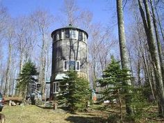 Multi-Story Yurt Cabin (Grain Silo) for $147k w/ 7 Acres | Tiny House Pins