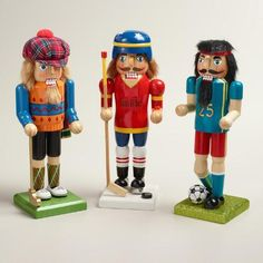 Classic Sports Nutcrackers, Set of 3 | World Market