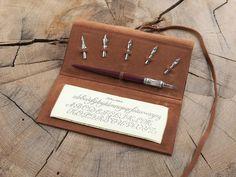 Kalligraphie Geschenkset -Ledereinband-