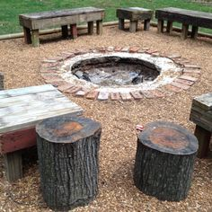 DIY fire pit and area!
