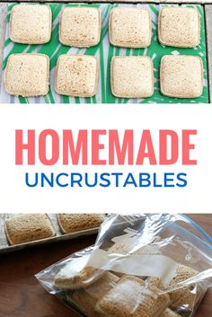 Four Kitchen Decorating Suggestions Which Can Be Cheap And Simple To Carry Out Diy Uncrustables Sandwiches - Perfectly Portable Pb&J Sandwiches, Great For Road Trips, Vacation, As Well As Packed Lunches Via Unsophisticook On Snacks Road Trip, Lunch Snacks, Road Trips, Road Trip Meals, Work Lunches, Healthy Lunches, Snacks For The Road, Freeze School Lunches, Travel Snacks
