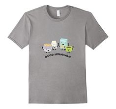 Men's Cute Good Morning - Breakfast Time T-Shirt / Cereals, Coffe  Large Slate - Brought to you by Avarsha.com