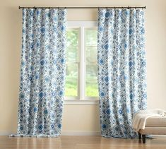 Curtain Styles & Types of Curtains Drapes And Blinds, Types Of Curtains, Sheer Drapes, Velvet Curtains, White Curtains, Drapes Curtains, Printed Curtains, Printed Linen, Blackout Drapes
