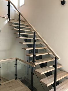 Steel Stairs Design, Glass Stairs, Home Decor, Apartment Bathroom Design, Banisters, Stairs, Decoration Home, Room Decor, Home Interior Design