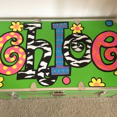 Trunk Kids Camp, Camping With Kids, Camp Trunks, Painted Trunk, Camping Packing, Footlocker, My Baby Girl, Claire, Pine