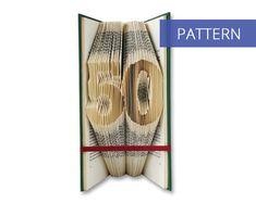 Folded Book Art Pattern - Number 50 - 99 Folds - Including manual - Bookfolding Pattern - Folded Book Pattern - Book Folding pattern