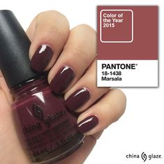 Get the look of PANTONE® Color of the Year 2015 Marsala using China Glaze VII! The perfect port wine crème shade to wear all year!