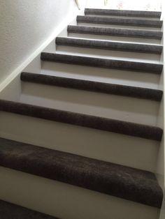 Trapbekleding betonlook tapijt van desso