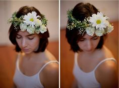 DIY rosemary and floral crown