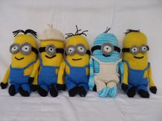 """Minions  by Stana D.S.  Finished Toy Size:  9"""" (22cm) tall   This is Part 2 of the Knitting Pattern for Minions.  The first part of the Pa..."""